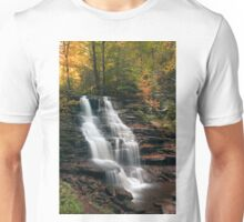 A Touch of Autumn at Erie Falls Unisex T-Shirt