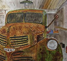 Old Dodge Truck by Jack G Brauer