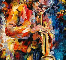 MILES DAVIS - original oil painting on canvas by Leonid Afremov by Leonid  Afremov