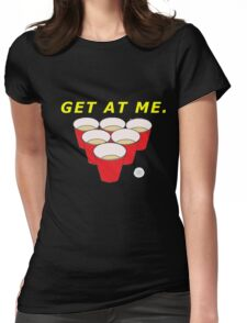Beer Pong Shirt Womens Fitted T-Shirt