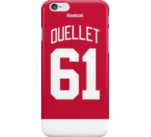 Detroit Red Wings Xavier Ouellet Jersey Back Phone Case iPhone Case/Skin