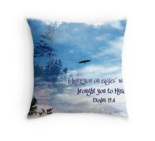 On Eagles' wings Throw Pillow