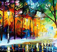 ICE REFLECTIONS - original oil painting on canvas by Leonid Afremov by Leonid  Afremov