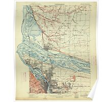 USGS Topo Map Oregon Portland 282796 1905 62500 Poster