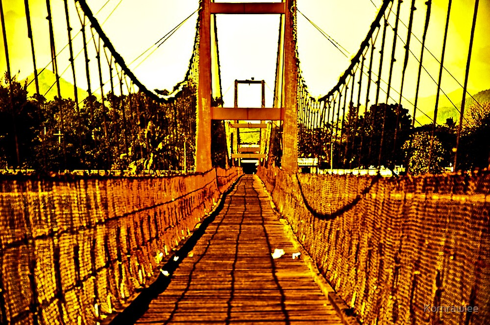 Bridge over trouble water: On Featured Work by Kornrawiee