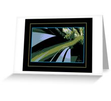 Grass and White Heather Abstract Greeting Card