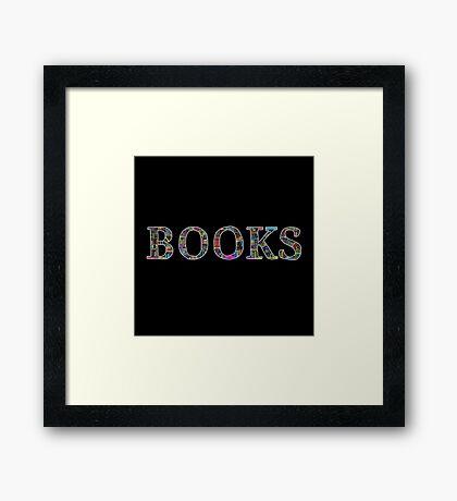 Books. Framed Print