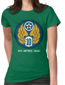 10th Air Force Emblem  Womens Fitted T-Shirt