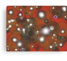 Bubbles red Canvas Print