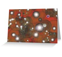 Bubbles red Greeting Card