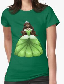 African Princess In Green Dress Womens Fitted T-Shirt