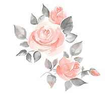 Beautiful roses. Hand-drawn  watercolor flowers  by Gribanessa