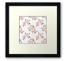 Beautiful roses. Hand-drawn watercolor floral pattern Framed Print