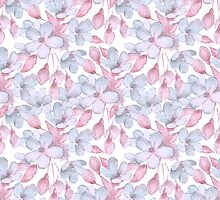 Pattern with delicate flowers by Gribanessa