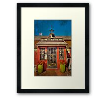 crown and hammer Framed Print