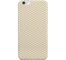 Christmas Gold & White Micro Chevron iPhone Case/Skin