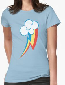 Rainbow Dash Cutie Mark (Large icon) - My Little Pony Friendship is Magic Womens Fitted T-Shirt