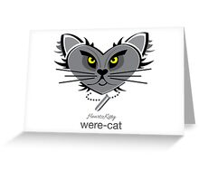 HeartKitty Were-Cat Greeting Card