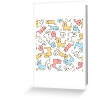 Funny cats Greeting Card