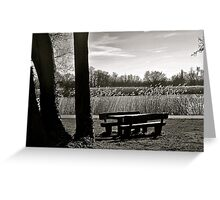 Bremen, Germany - Picnic Table Greeting Card