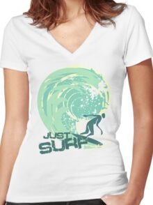 just surf II Women's Fitted V-Neck T-Shirt