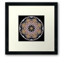Dazzling Dahlias ball 2 Framed Print