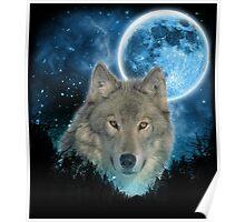 Grey Wolfs Skylight Poster