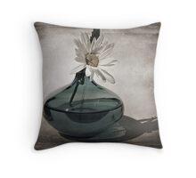 Daisy in a Aqua vase Throw Pillow
