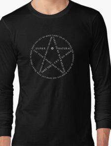 Carry On Anti Possession Symbol - Supernatural (White) Long Sleeve T-Shirt