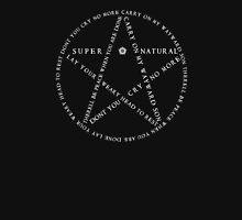 Carry On Anti Possession Symbol - Supernatural (White) Unisex T-Shirt