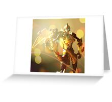 Sunstorm Portrait Greeting Card