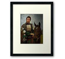 Green Knight Framed Print