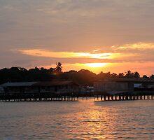 Sunset over Semporna - Borneo, Malaysia by MrMarth