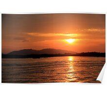 Sunset over Sabah - Borneo, Malaysia Poster