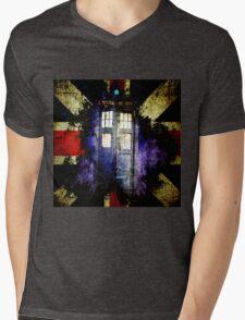 Dr. Who Unijack Mens V-Neck T-Shirt