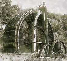 Industrial Revolution - Burden Iron Works Water Wheel by Dennis Melling