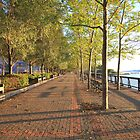 Hoboken Promenade on the Hudson River by pmarella