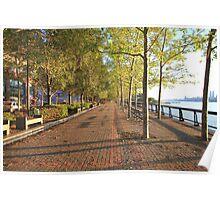 Hoboken Promenade on the Hudson River Poster
