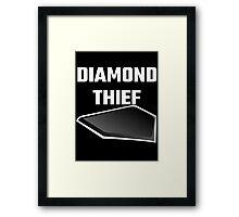 Diamond Thief Framed Print
