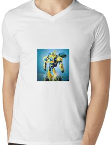 Bumblebee Portrait Mens V-Neck T-Shirt