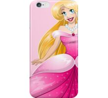 Blond Princess In Pink Dress iPhone Case/Skin