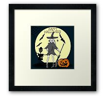 Hand drawn  ink Halloween's illustration Framed Print