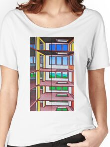 HIGHRISE IN THE BERKSHIRES - a diptych Women's Relaxed Fit T-Shirt