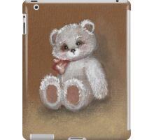 Teddy on toned paper iPad Case/Skin