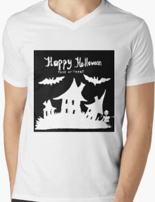 Hand drawn  ink Halloween's illustration  Mens V-Neck T-Shirt
