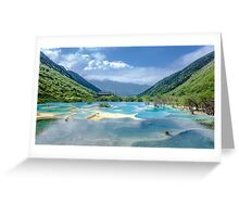 Landscape in Sichuan, China Greeting Card