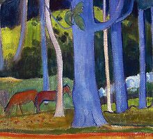 Paul Gauguin - Landscape with Blue Trunks by irinatsy