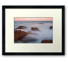 The Entrance Rocks Sunset Framed Print