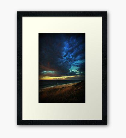 Thickening Sky Framed Print