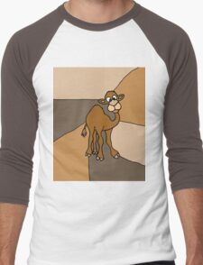 Funky Goofy Camel Original Art Abstract Men's Baseball ¾ T-Shirt